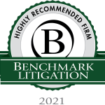 Benchmark Litigation 2021 Highly Recommended Firm Award