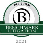 Benchmark Litigation 2021 Tier 2 Firm Award
